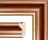 Moldura Castanha com friso dourado de 6 cm-9-3
