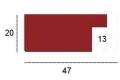 Moldura Decapé Vermelha de 4.7 cm-H37-1