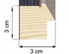 Moldura Folheada de madeira carvalho 1-H42-1