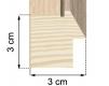 Moldura folheada de madeira carvalho 3-H43-1