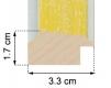 Moldura Amarela Baby de 3.3 cm-H50-1