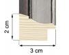 Moldura Prata de 2 tons de 3 cm-H57-1