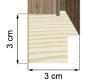 Moldura folheada de madeira carvalho 2-H59-1