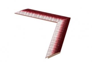 Moldura vermelha e branca de 4 cm