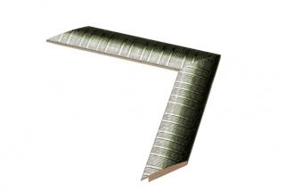 Moldura verde e branca de 4 cm