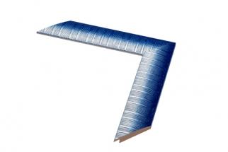 Moldura azul e branca de 4 cm