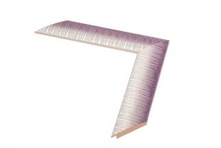 Moldura lilás e branca de 4 cm