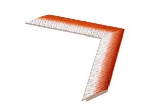 Moldura laranja e branca de 4 cm