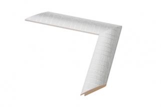 Moldura cinzenta e branca de 4 cm