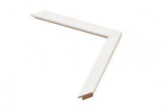 Moldura Branca de 2 cm