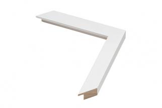Moldura Branco Neve de 2.6 cm