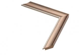 Moldura Bronze com friso prata de 3 cm
