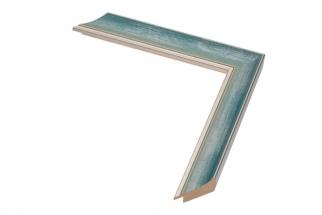 Moldura Azul e Prata de 3 cm
