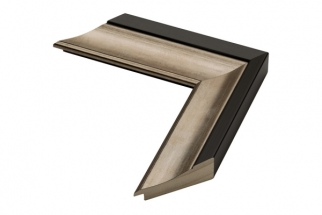Moldura Preta e Bronze de 5.5 cm