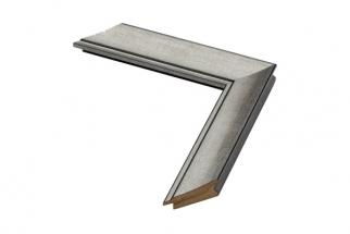 Moldura prata escura de 3.5 cm