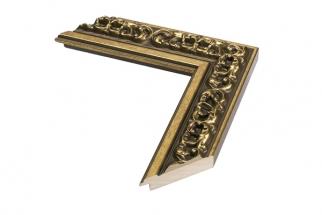 Moldura Trabalhada Dourada de 5 cm